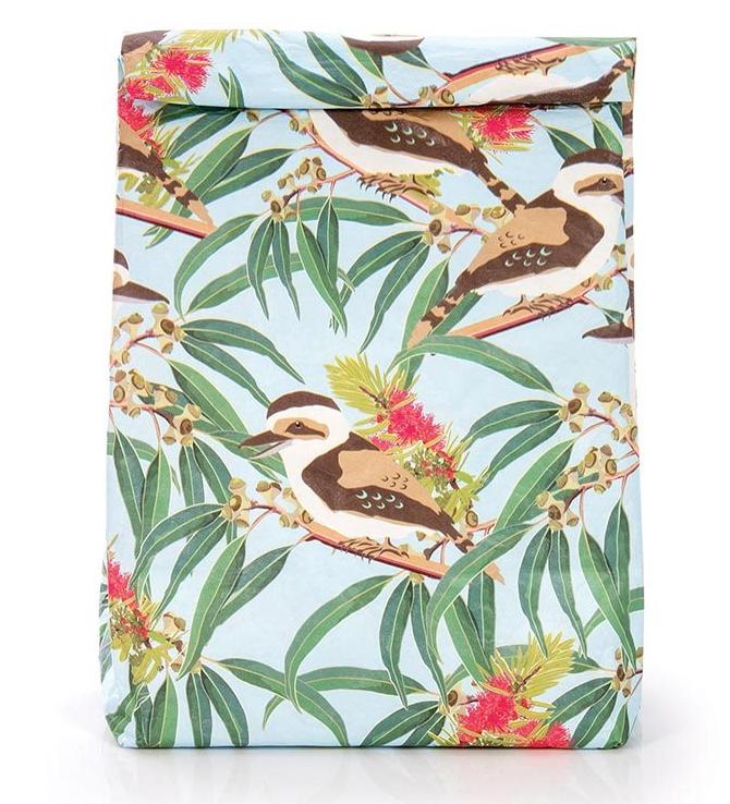 Resuseable Paper Lunch Bag- Australian Birds