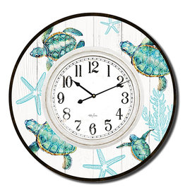 Large Clock with Turtle Design