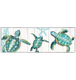 Rectangle Shadow Framed Painting with Turtles