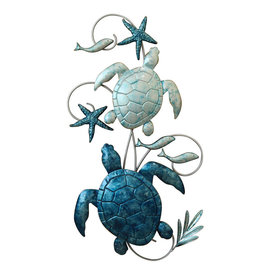Metal Wall Art - Turtle Love