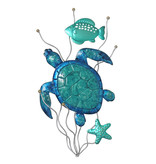 Metal Wall Art - Turtle Aqua