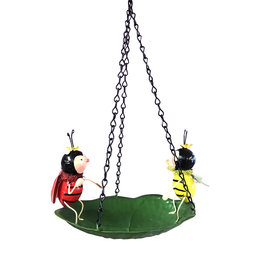 Metal Hanging Whimsical Bird Bath