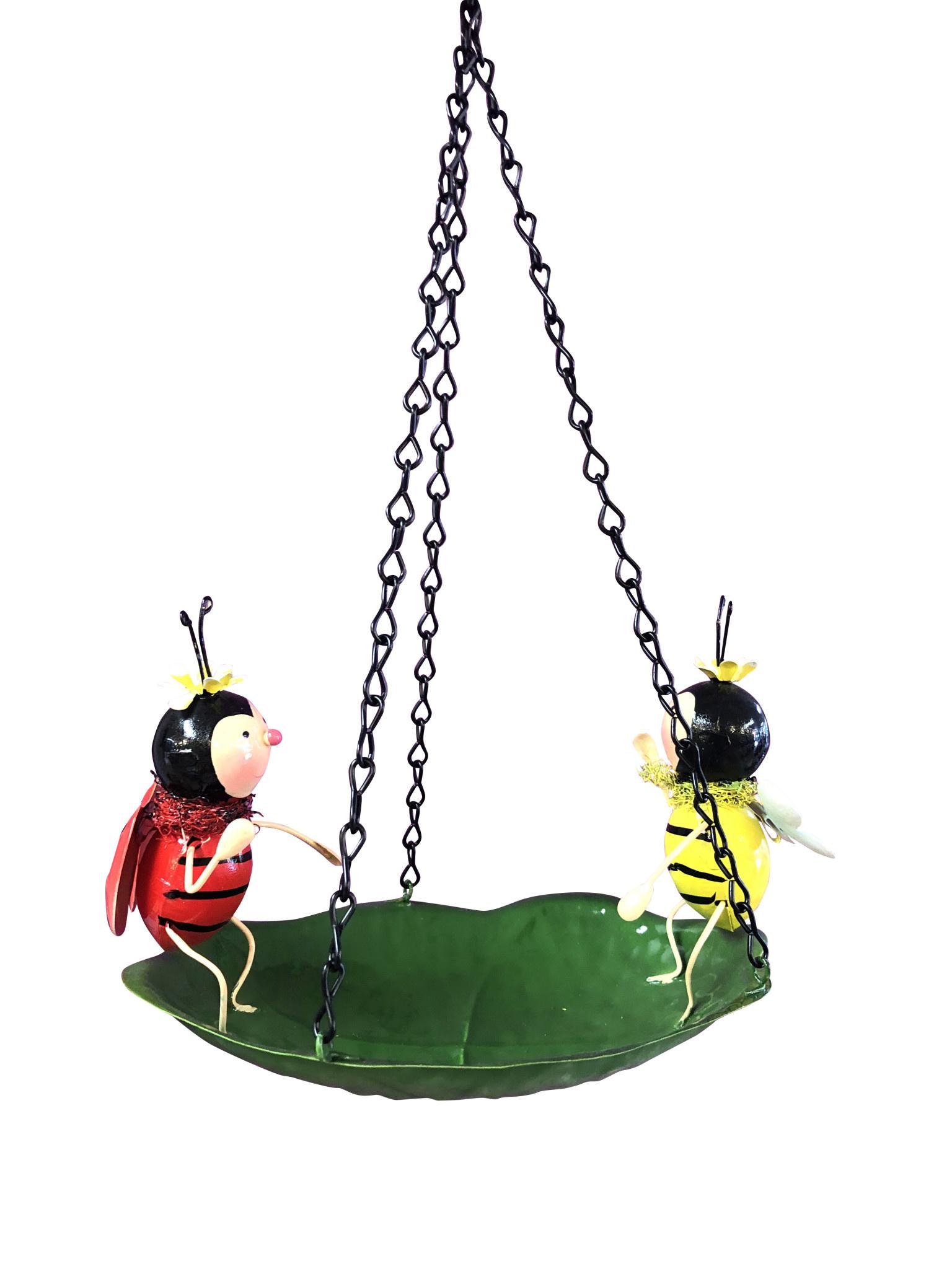 Metal Hanging Whimsical Bird Bath