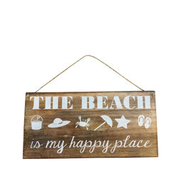 Wooden Sign - Beach Is My Happy Place