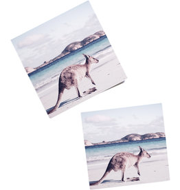 Coaster with Beach Kangaroo Design