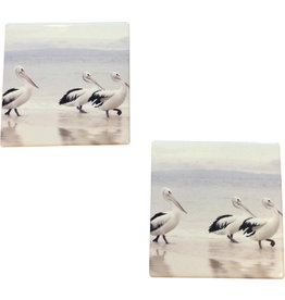 Coaster with Pelicans Design