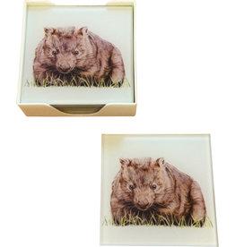 Coaster Glass Set/6 - Wombat
