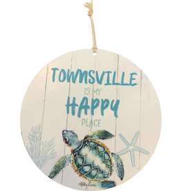 Metal Wall Hanging - Townsville Happy Place