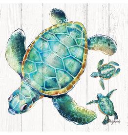 Mini Canvas -  Three Turtles