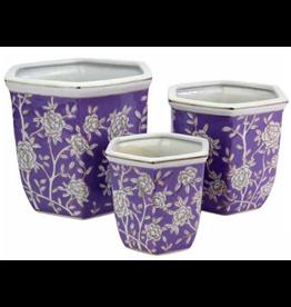 Pot Hexagonal Lilac & Rose (Large)