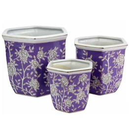Pot Hexagonal Lilac & Rose (Medium)