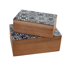 Wooden Box Blue (Small)