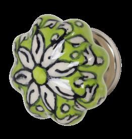 Doorknob - Green Ceramic