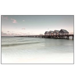 Framed Canvas - Sunset Pier
