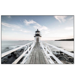 Framed Canvas - Lighthouse Pier (Small)