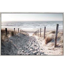 Framed Canvas - Sunrise Beach Views