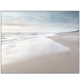 Framed Canvas - Sunset Beach Views