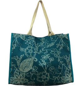 Everyday Tote Bag Paisley Teal