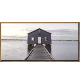 Framed Canvas- Boathouse