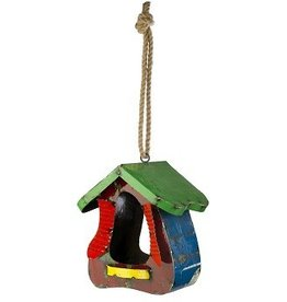 A bird house with a difference! Made from recycled oil drums these colourful bird houses are durable and weather resistant. Fantastic gift for someone with ...