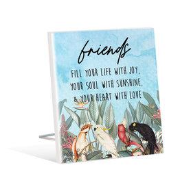 Sentiment Plaque Parrots Friend