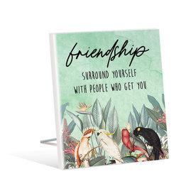 Sentiment Plaque Parrots Friendship