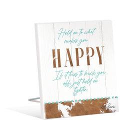 Sentiment Plaque 12x15 Country HAPPY