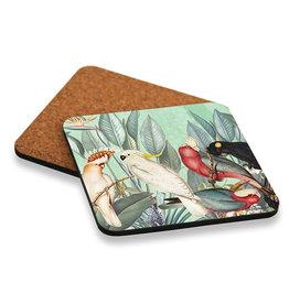 Coaster set with Bird Design