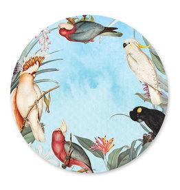 Coaster set with Blue Parrot Design