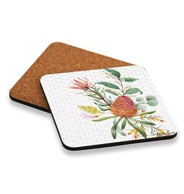 Coaster set with Banksia Design