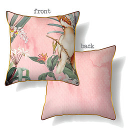 Cushion with Pink Parrot Design