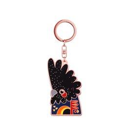 Keychain Black Cockatoo