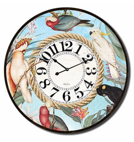Clock with Parrot Design (Large)