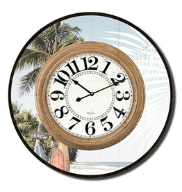 Clock with Surfboard Design (Large)