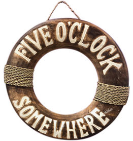 Wooden Sign - 5 O'Clock Somewhere