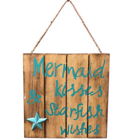 Wooden Sign - Mermaid Kisses