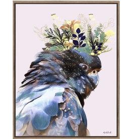 Framed Canvas - Black Cockatoo Crown