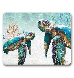 Placemats Set/6 - Green Turtles Pair