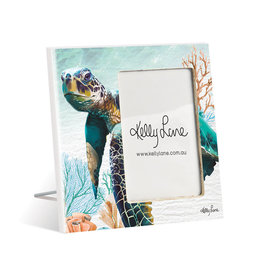 Photo Frame Green Turtle Square