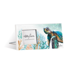 Photo Frame Green Turtle Small Rectangle