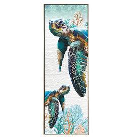 Framed Canvas - Green Turtle (Portrait)