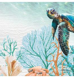 Mini Canvas - Green Turtle