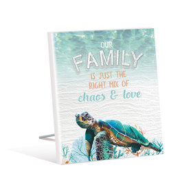 Sentiment Plaque Green Turtle Family