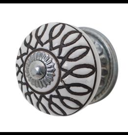 Doorknob - White Ceramic