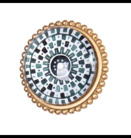 Doorknob Dots Metal w Glass