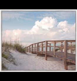 Framed Canvas - Boardwalk