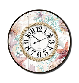 Clock with Sea Shell and Rope Design (Large)