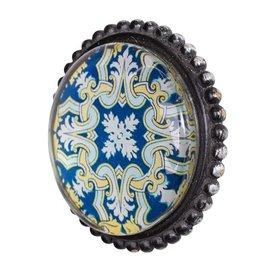 Siros Pewter & Glass Doorknob
