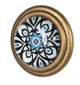 Doorknob - Trev Metal with Glass