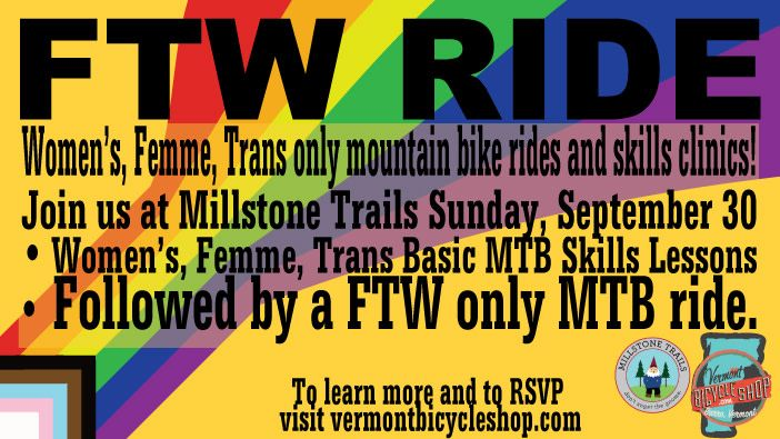 Vermont Bicycle Shop FTW Ride